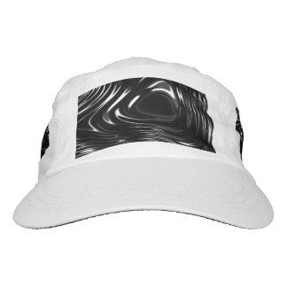 Líquido metálico en blanco y negro gorra de alto rendimiento
