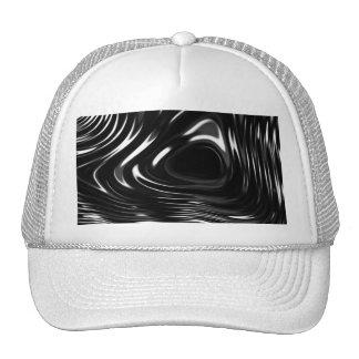 Líquido metálico en blanco y negro gorro de camionero