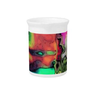 líquidos dreamlike coloridos jarras