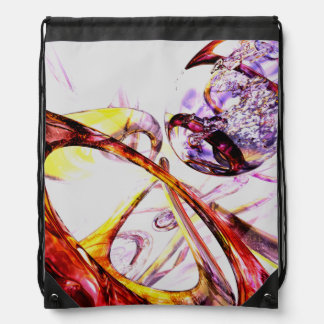 Liquified Abstract Drawstring Bags