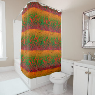 Liquified Blocks Shower Curtain