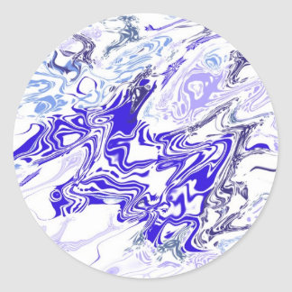 Liquified Snowflake Classic Round Sticker