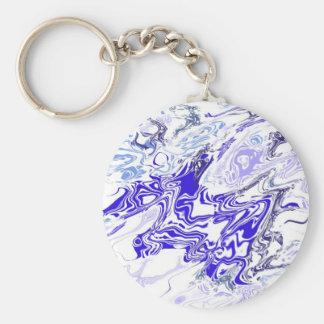 Liquified Snowflake Keychain