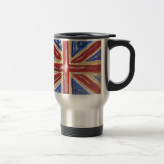 Liquified Union Jack 15 Oz Stainless Steel Travel Mug