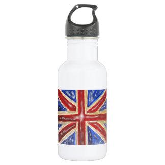 Liquified Union Jack 18oz Water Bottle