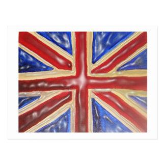 Liquified Union Jack Postcard