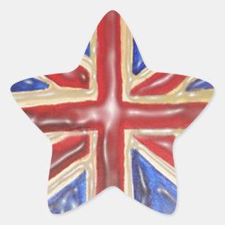 Liquified Union Jack Star Sticker