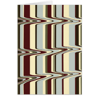 liquify stripe greeting card