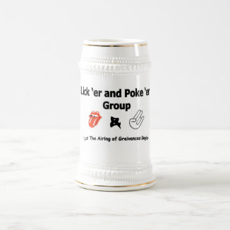 Liquor and Poker Group Beer Stein