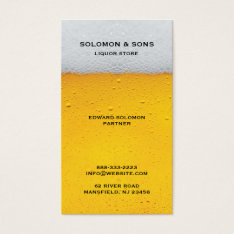 Liquor Beer Store Business Card at Zazzle