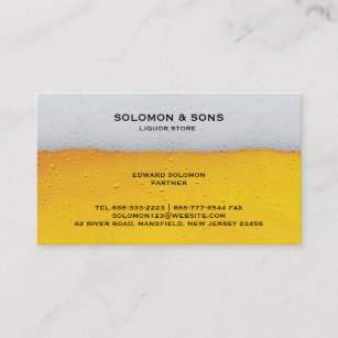 Liquor store business cards zazzle liquor beer store business card reheart Image collections