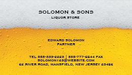 Liquor bottle business cards templates zazzle liquor beer store business card colourmoves
