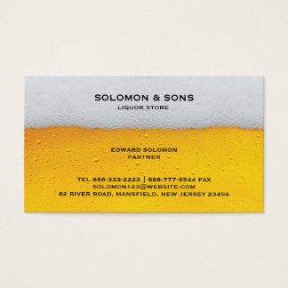 Liquor Beer Store Business Card