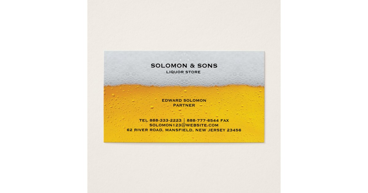 Liquor Beer Store Business Card | Zazzle.com