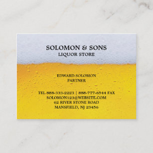 Liquor stores office school products zazzle liquor beer store chubby business card reheart Images