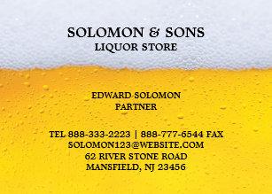 Liquor store business cards templates zazzle liquor beer store chubby business card colourmoves