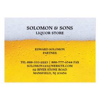 Liquor Beer Store Chubby Business Card