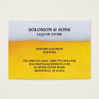 Liquor Beer Chubby Business Card