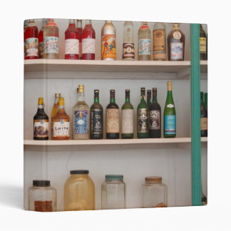 Liquor bottles 3 ring binder
