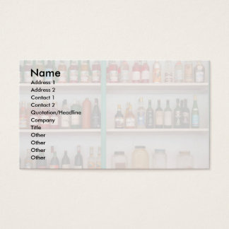 Liquor bottles business card