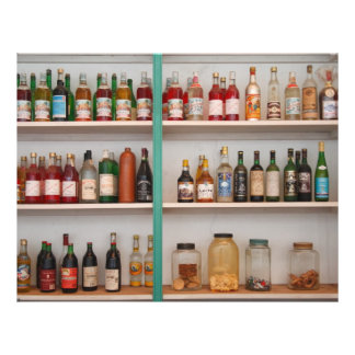 Liquor bottles flyer