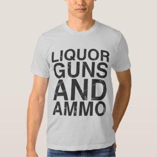 Liquor Guns & Ammo T-shirt