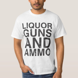 Liquor Guns & Ammo WHITE Tee Shirt
