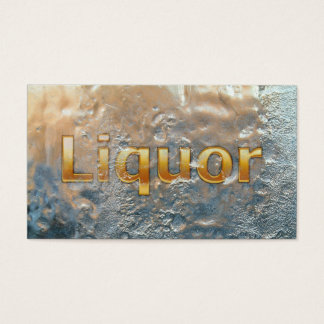 Liquor Store Modern Frosted Business Card
