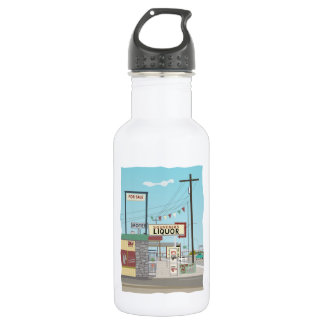 Liquor Store on Route 66 Stainless Steel Water Bottle