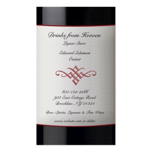 Liquor store business card templates bizcardstudio liquor wine store business card colourmoves