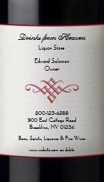 Liquor bottle business cards templates zazzle liquor wine store business card colourmoves