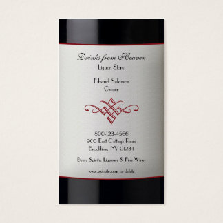 Liquor Wine Store Business Card