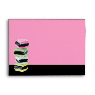 Liquorice Allsorts pink Card Envelope envelope