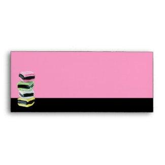 Liquorice Allsorts pink Letterhead Envelope envelope