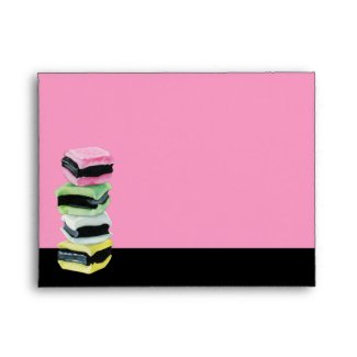Liquorice Allsorts pink Note Card Envelope envelope