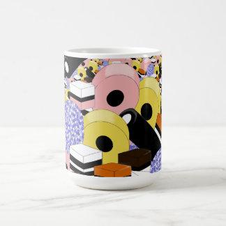 Liquorice sweets coffee mug