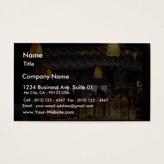 Liquors Bars Business Card