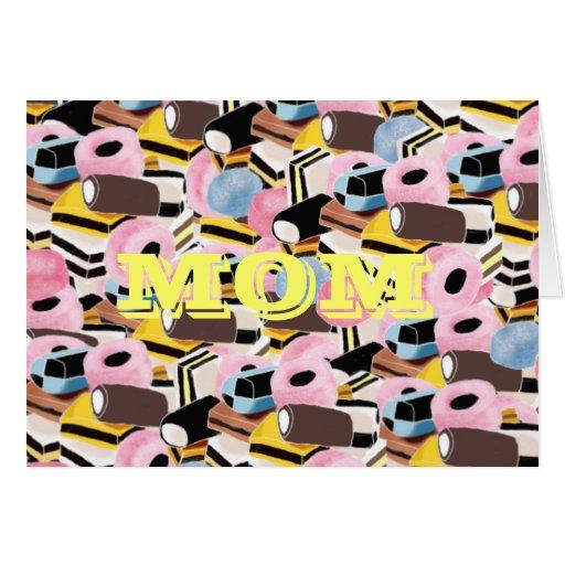 liqurice sweets, MOM Greeting Card