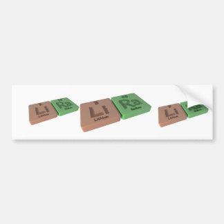 Lira as Li Lithium and Ra Radium Bumper Stickers