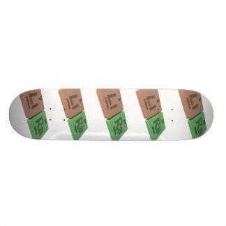 Lira as Li Lithium and Ra Radium Skate Board Deck