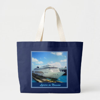 Lirica in Nassau with Your Name Large Tote Bag