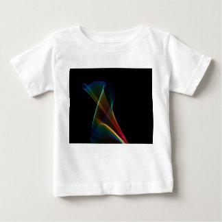 Lirio abstracto del arco iris, flor mística playeras