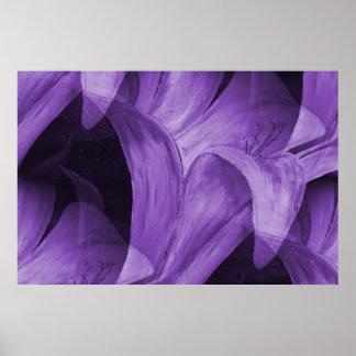 Lirio abstracto púrpura por la marca Moore Póster