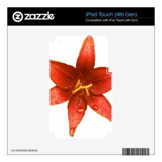 Lirio anaranjado rojo iPod touch 4G skin