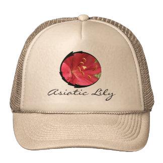 Lirio asiático rojo gorra