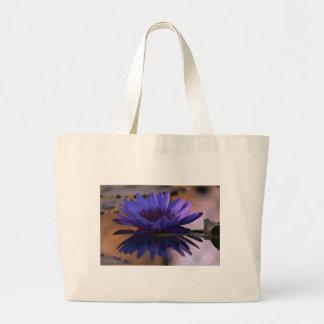 Lirio azul bolsa tela grande