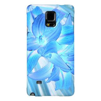 Lirio azul etéreo, fantasía floral del invierno