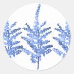 Lirio azul Lillies del claro de luna Etiqueta Redonda