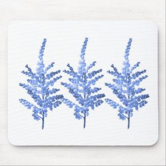 Lirio azul Lillies del claro de luna Tapetes De Ratones