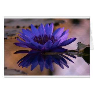 Lirio azul tarjeta de felicitación